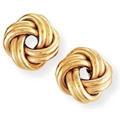 yellow gold ear rings