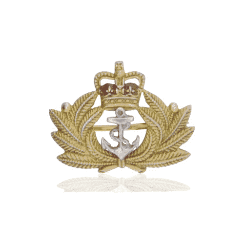 yellow gold and enamel naval brooch